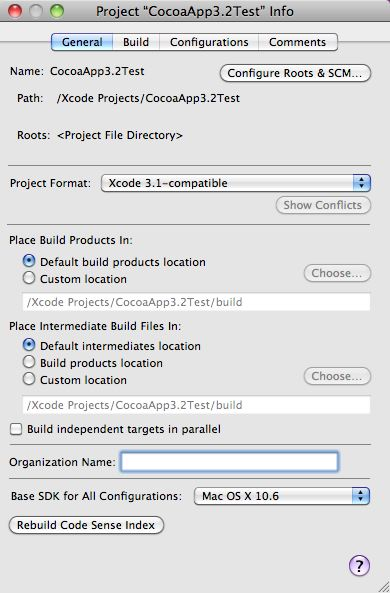 Me and Mark Publishing Blog | » Xcode 3.2: Changing the ...