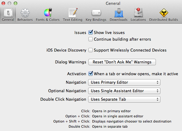 Me and Mark Publishing Blog   » Xcode 4: Open New Tab When