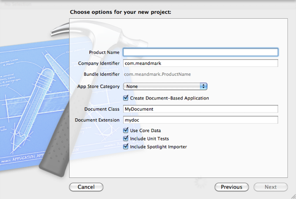 Xcode4NewProjectIncludeUnitTests