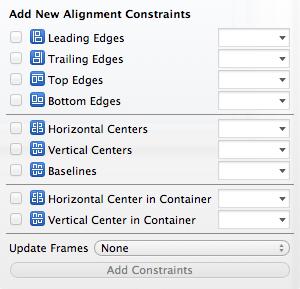 Xcode 5 Alignment Constraints