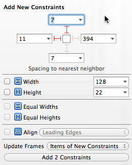 Xcode 5 Pin Constraints