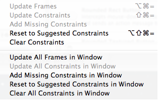 Xcode 5 Resolve Autolayout Issues