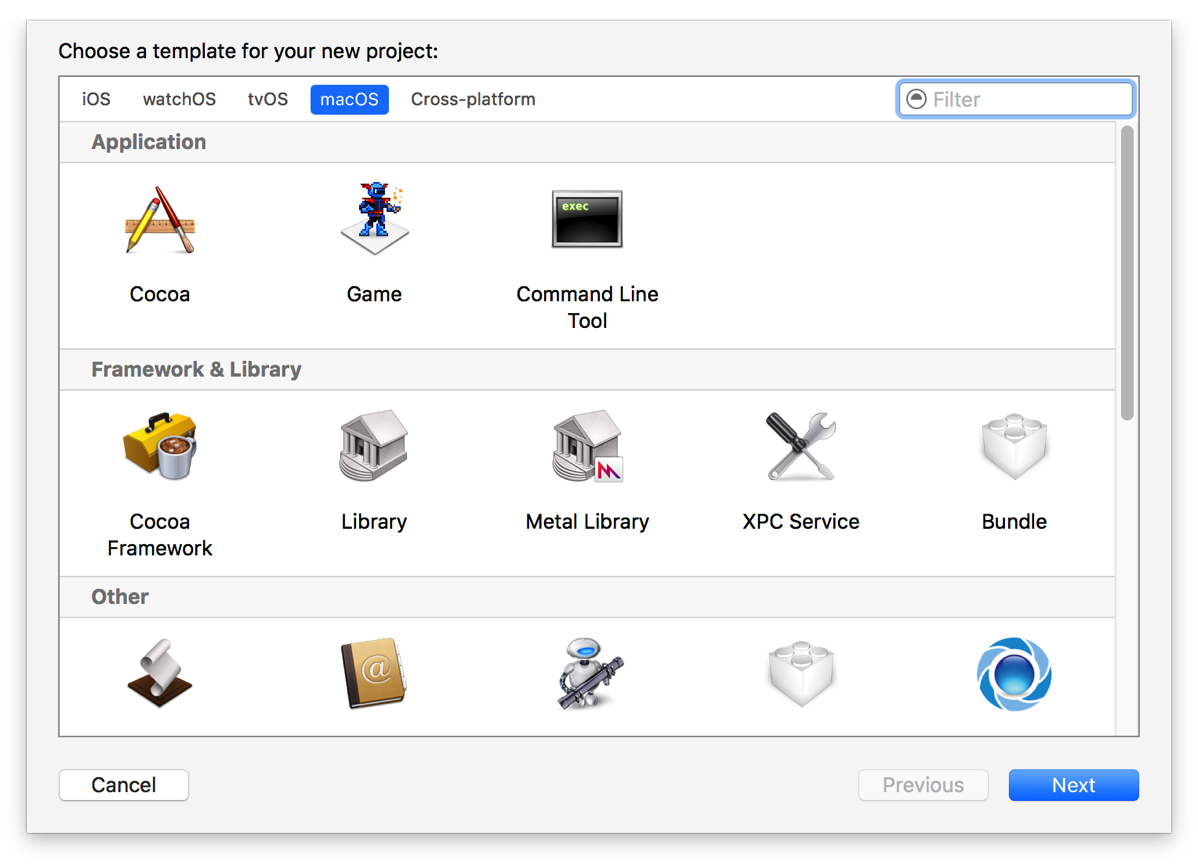 Xcode8NewProjectAssistant