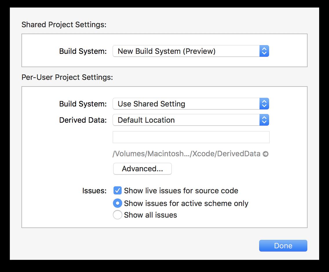 Xcode9NewBuildSystem